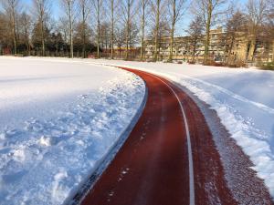 sneeuwvrijmaken baan