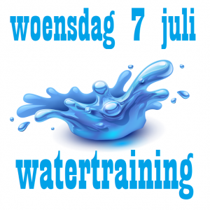 7 juli watertraining